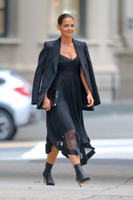 Katie Holmes was spotted heading to a Fashion Show in New York City on September 4, 2019. (Photo by Felipe Ramales/Splash News and Pictures)