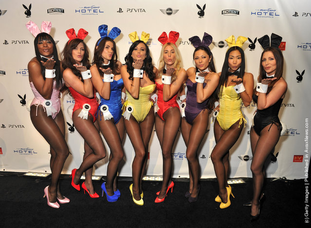 Playboy Bunnies attend the 2012 Playboy Party hosted by Bud Light Hotel at Bud Light Hotel