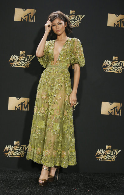 Zendaya attends the 2017 MTV Movie And TV Awards at The Shrine Auditorium on May 7, 2017 in Los Angeles, California. (Photo by Danny Moloshok/Reuters)