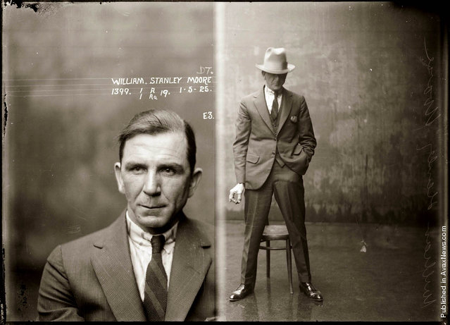 Mug shot of William Stanley Moore, 1 May 1925, Central Police Station, Sydney