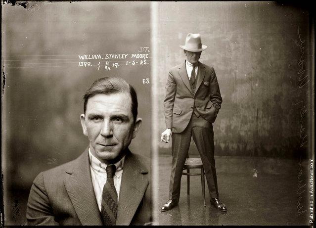 Mug shot of William Stanley Moore, 1 May 1925, Central Police Station, Sydney