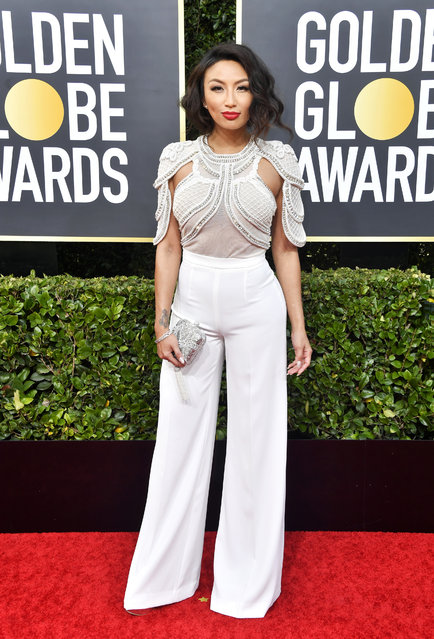 Jeannie Mai attends the 77th Annual Golden Globe Awards at The Beverly Hilton Hotel on January 05, 2020 in Beverly Hills, California. (Photo by Frazer Harrison/Getty Images)