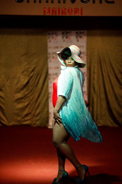 A model poses on the catwalk during a plus size fashion show in Nairobi, Kenya, October 7, 2017. (Photo by Baz Ratner/Reuters)
