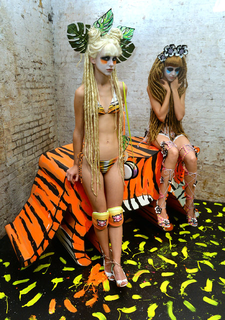 Models at the Sophia Webster presentation during London Fashion Week Spring Summer 2015 on September 14, 2014 in London, England. (Photo by Anthony Harvey/Getty Images)