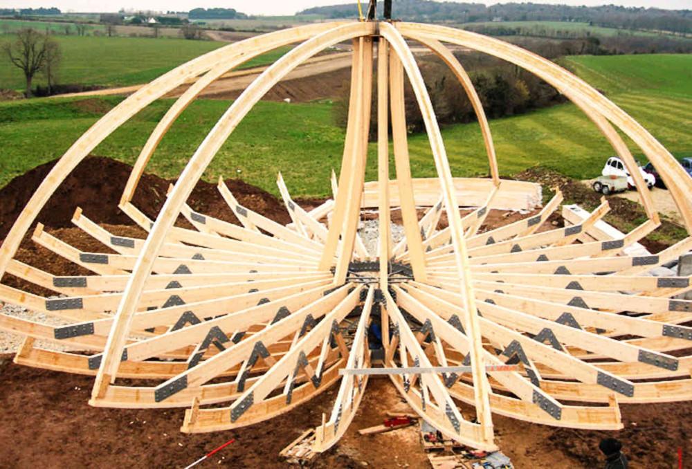Wooden Dome Design by Patrick Marsilli