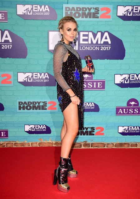 Tallia Storm arrives at the 2017 MTV Europe Music Awards at Wembley Arena in London, Britain, November 12, 2017. (Photo by PA Wire)