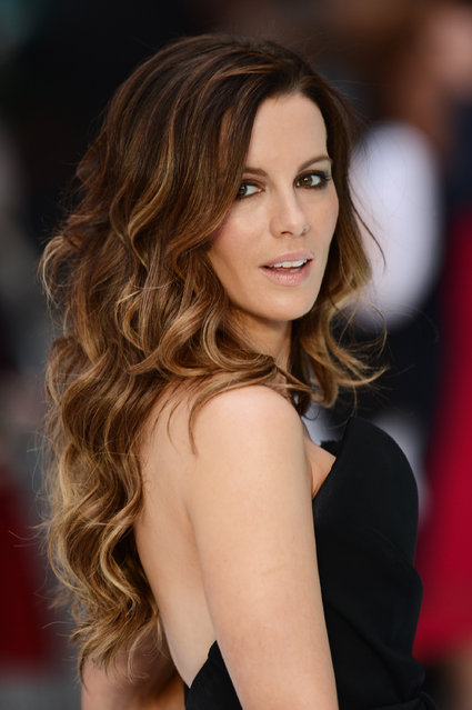 "Kate Beckinsale attends the ""Total Recall"" UK premiere at Vue West End on August 16, 2012 in London, England. ""Esquire"" named Kate Beckinsale its Sexiest Woman Alive in 2009. (Photo by Ian Gavan/Getty Images)"