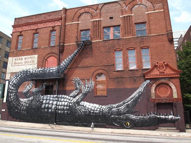 Atlanta (GA) – Living Walls Conference. (Photo by ROA!)