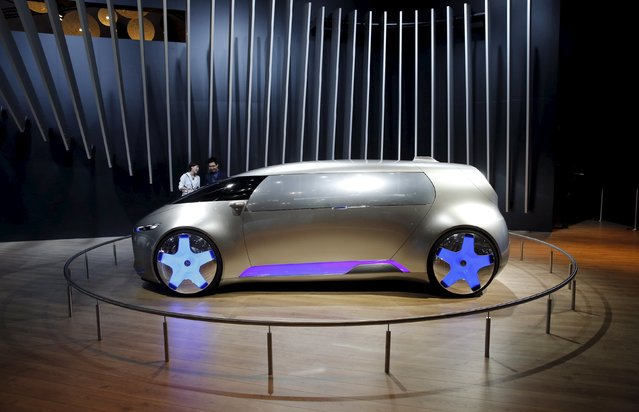 Mercedes-Benz Vision Tokyo concept car is on display at the 44th Tokyo Motor Show in Tokyo, Japan, October 28, 2015. (Photo by Toru Hanai/Reuters)