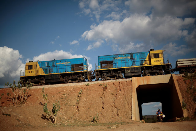 Train wagons are seen near the Transnordestina railway near Salgueiro, Pernambuco state, Brazil January 29, 2014. (Photo by Ueslei Marcelino/Reuters)