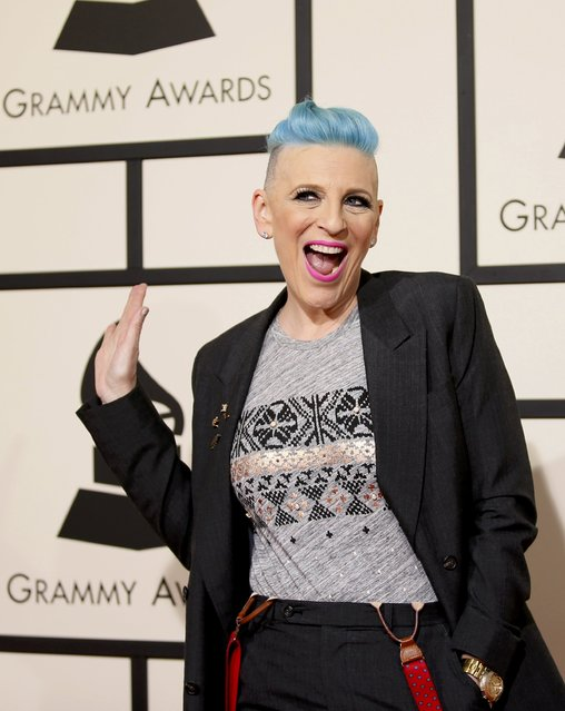 Comedienne Lisa Lampanelli arrives at the 58th Grammy Awards in Los Angeles, California February 15, 2016. (Photo by Danny Moloshok/Reuters)