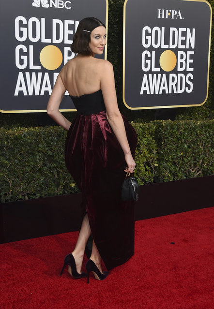 Caitriona Balfe arrives at the 76th annual Golden Globe Awards at the Beverly Hilton Hotel on Sunday, January 6, 2019, in Beverly Hills, Calif. (Photo by Jordan Strauss/Invision/AP Photo)