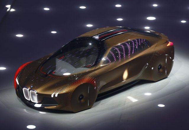 """BMW presents the """"Vision Next 100"""" concept car during centenary celebrations at the Olympic Hall in Munich, southern Germany March 7, 2016. (Photo by Michael Dalder/Reuters)"""