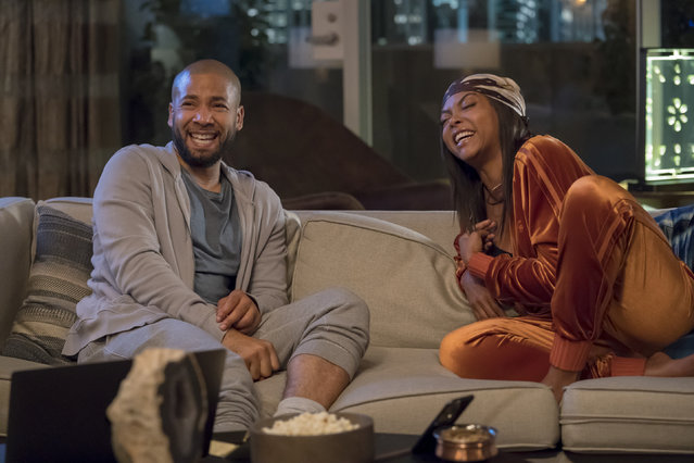 "This image released by Fox shows Jussie Smollett, left, and Taraji P. Henson in a scene from the ""The Depth of Grief"" episode of ""Empire"", originally airing on October 31, 2018. Smollett's co-starring role in ""Empire"" may end up being the pinnacle of his career, industry observers and insiders said as the actor faces criminal charges that he faked a hate crime against himself. (Photo by Chuck Hodes/FOX via AP Photo)"