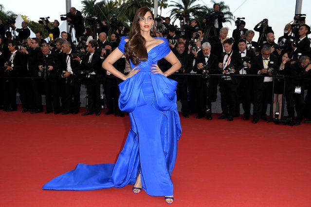 "Sonam Kapoor attends the Premiere of ""The Sea Of Trees"" during the 68th annual Cannes Film Festival on May 16, 2015 in Cannes, France. (Photo by Pascal Le Segretain/Getty Images)"