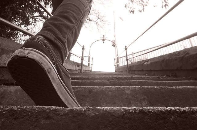 """""""Dreams are only a step away"""". (Photo by Matthew Charles/ESRC)"""