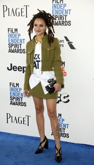 Sasha Lane arrives at the 2017 Film Independent Spirit Awards in Santa Monica, California, U.S., February 25, 2017. (Photo by Danny Moloshok/Reuters)