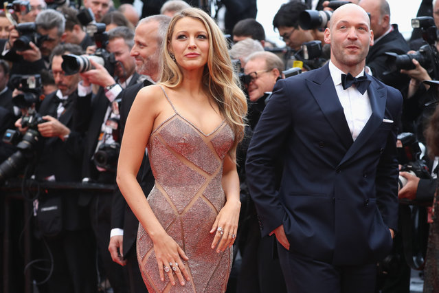 """Actors Blake Lively and Corey Stoll attend the """"Cafe Society"""" premiere and the Opening Night Gala during the 69th annual Cannes Film Festival at the Palais des Festivals on May 11, 2016 in Cannes, France. (Photo by Andreas Rentz/Getty Images)"""