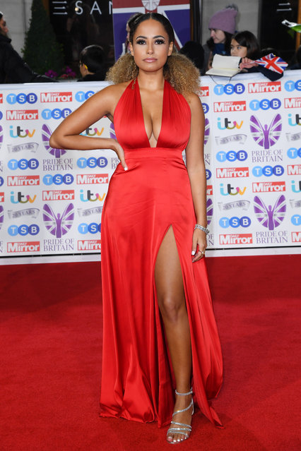 Amber Gill attends the Pride Of Britain Awards 2019 at The Grosvenor House Hotel on October 28, 2019 in London, England. (Photo by David Fisher/Rex Features/Shutterstock)