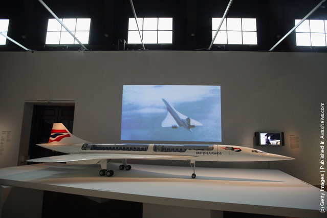 A scale model of Concorde stands on display at the Victoria and Albert museums' new major exhibition, 'British Design 1948-2012: Innovation In The Modern Age'