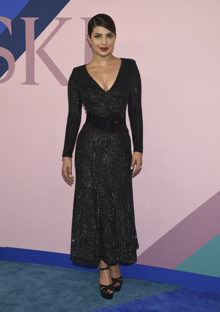 Priyanka Chopra attends the CFDA Fashion Awards at the Hammerstein Ballroom on Monday, June 5, 2017, in New York. (Photo by Evan Agostini/Invision/AP Photo)