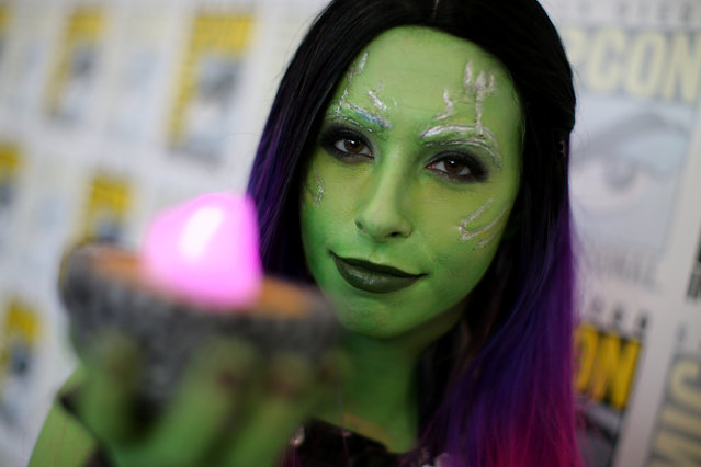 Attendee Emily poses for a picture at 2017 Comic-Con International on July 20, 2017 in San Diego, California. (Photo by Mike Blake/Reuters)