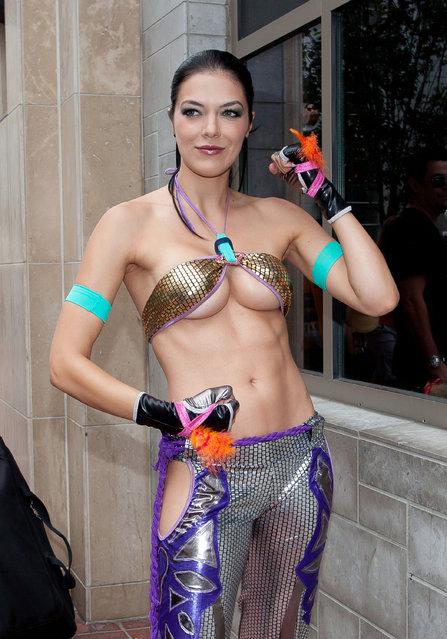 Adrianne Curry at Comic-Con International 2012 in San Diego