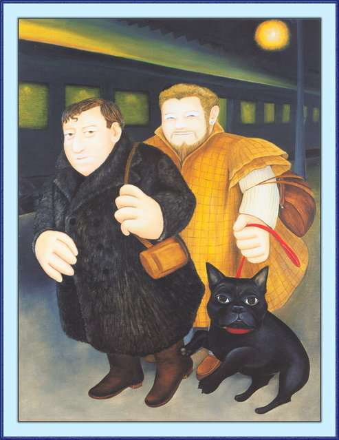 Ted and Heinrich. Artwork by Beryl Cook