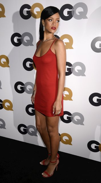 Rihanna arrives at the GQ Men Of The Year Party at Chateau Marmont Hotel on November 13, 2012 in Los Angeles, California. (Photo by Jeffrey Mayer/WireImage)