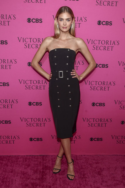Megan Williams attends the Victoria's Secret fashion show viewing party at Spring Studios on Tuesday, November 28, 2017, in New York. (Photo by Andy Kropa/Invision/AP Photo)
