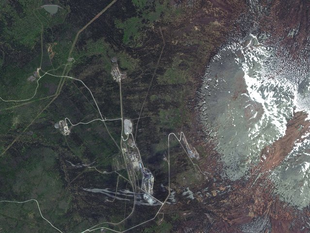Russia. (Photo by DigitalGlobe/Caters News)