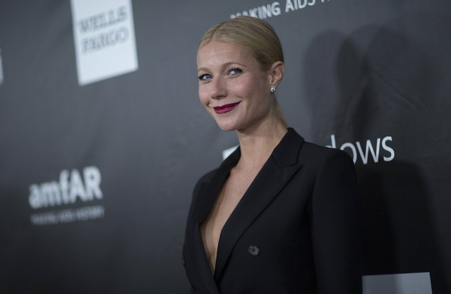 Actress Gwyneth Paltrow poses at the amfAR's fifth annual Inspiration Gala in Los Angeles, California October 29, 2014. (Photo by Mario Anzuoni/Reuters)