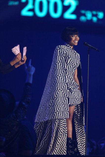 Host Nicki Minaj onstage during the 2014 MTV European Music Awards in Glasgow, Sunday, November 9, 2014. (Photo by Joel Ryan/Invision/AP Photo)