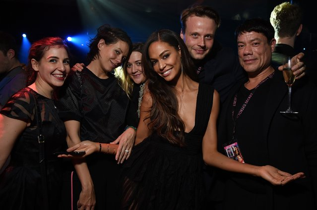 Joan Smalls (C) attends the 2014 Victoria's Secret Fashion Show After Party on December 2, 2014 in London, England. (Photo by Dimitrios Kambouris/Getty Images for Victoria's Secret)