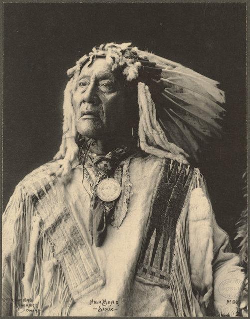 High Bear, Sioux, 1899. (Photo by Frank A. Rinehart)