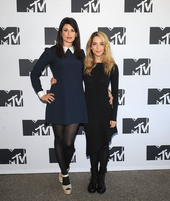 Scout Durwood (L) and Jessica Rothe attend the MTV Press Junket in New York City at Le Parker Meridien on October 26, 2016 in New York City. (Photo by Brad Barket/Getty Images for MTV)