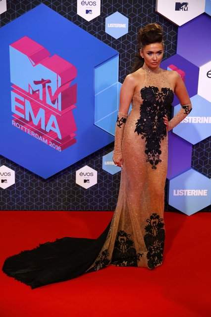 Charlotte Dawson attends the 2016 MTV Europe Music Awards at the Ahoy Arena in Rotterdam, Netherlands, November 6, 2016. (Photo by Michael Kooren/Reuters)
