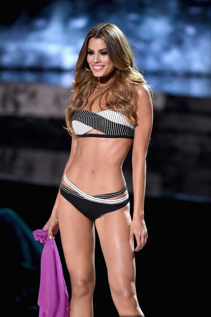 Miss Colombia 2015, Ariadna Gutierrez, competes in the swimsuit competition during the 2015 Miss Universe Pageant at The Axis at Planet Hollywood Resort & Casino on December 20, 2015 in Las Vegas, Nevada. (Photo by Ethan Miller/Getty Images)