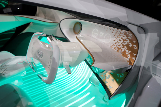The new Toyota Concept-i concept car, designed to learn about its driver is unveiled during the Toyota press conference at CES in Las Vegas, January 4, 2017. (Photo by Rick Wilking/Reuters)