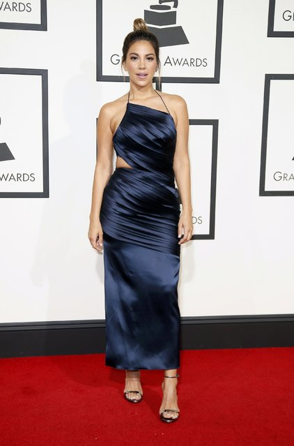 Actress Liz Hernandez arrives at the 58th Grammy Awards in Los Angeles, California February 15, 2016. (Photo by Danny Moloshok/Reuters)