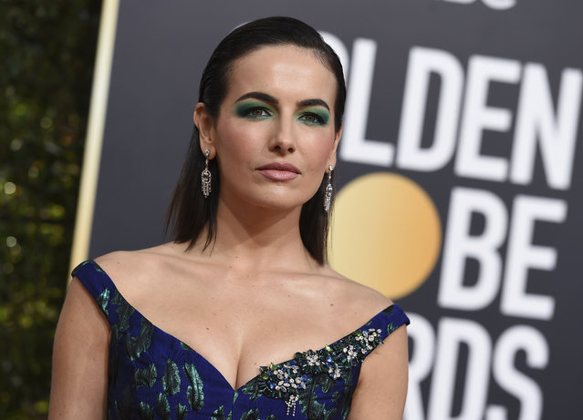 Camilla Belle arrives at the 76th annual Golden Globe Awards at the Beverly Hilton Hotel on Sunday, January 6, 2019, in Beverly Hills, Calif. (Photo by Jordan Strauss/Invision/AP Photo)