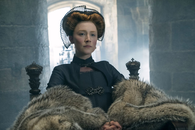 "This image released by Focus Features shows Saoirse Ronan as Mary Stuart in a scene from ""Mary Queen of Scots"". (Photo by Liam Daniel/Focus Features via AP Photo)"