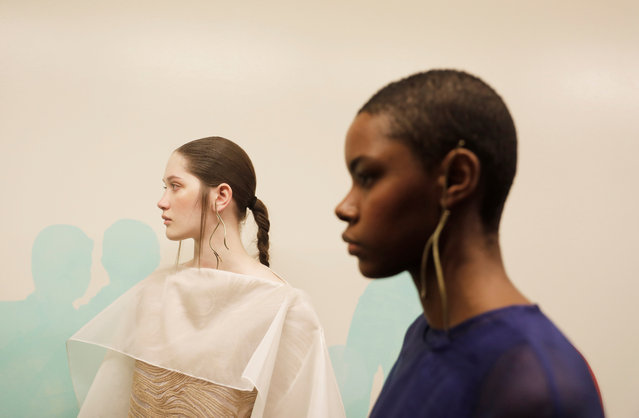 Models wait backstage before Lenny Niemeyer show during Sao Paulo Fashion Week in Sao Paulo, Brazil, April 23, 2019. (Photo by Nacho Doce/Reuters)