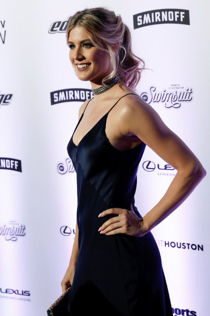 Tennis player and 2017 Sports Illustrated Swimsuit Issue model Eugenie Bouchard poses for photographers at a launch event for the Swimsuit Issue in New York City, U.S., February 16, 2017. (Photo by Mike Segar/Reuters)
