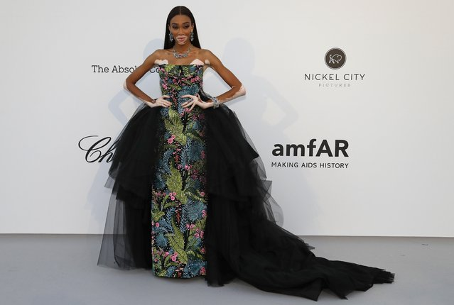 Winnie Harlow poses for photographers upon arrival at the amfAR, Cinema Against AIDS, benefit at the Hotel du Cap-Eden-Roc, during the 72nd international Cannes film festival, in Cap d'Antibes, southern France, Thursday, May 23, 2019. (Photo by Eric Gaillard/Reuters)