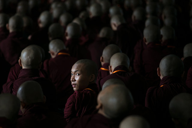 Buddhist monks attend the annual meeting of the ultra-nationalist group Buddha Dhamma Parahita Foundation, previously known as Ma Ba Tha, in Yangon on June 17, 2019. (Photo by Sai Aung Main/AFP Photo)