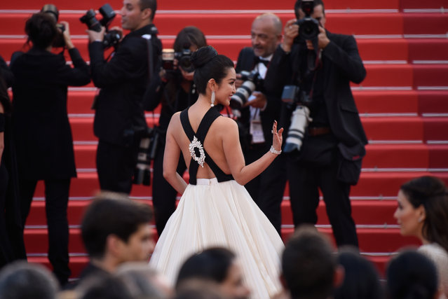 """Li Bing Bing attends the """"Cafe Society"""" premiere and the Opening Night Gala during the 69th annual Cannes Film Festival at the Palais des Festivals on May 11, 2016 in Cannes, France. (Photo by Clemens Bilan/Getty Images)"""