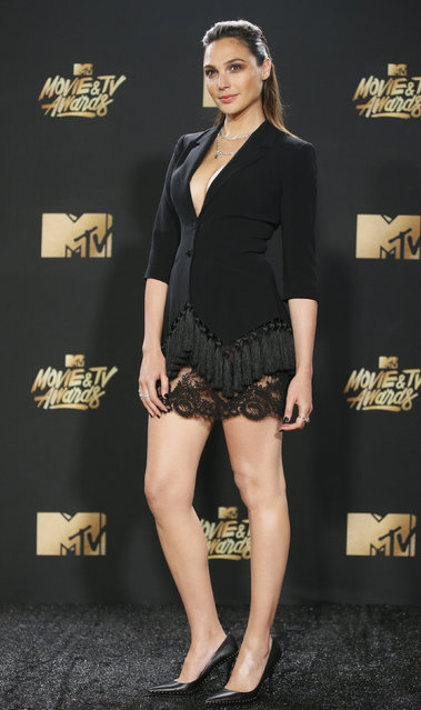 Gal Gadot attends the 2017 MTV Movie And TV Awards at The Shrine Auditorium on May 7, 2017 in Los Angeles, California. (Photo by Danny Moloshok/Reuters)