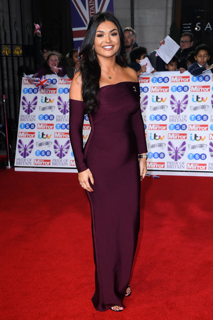 India Reynolds attends the Pride Of Britain Awards 2019 at The Grosvenor House Hotel on October 28, 2019 in London, England. (Photo by David Fisher/Rex Features/Shutterstock)