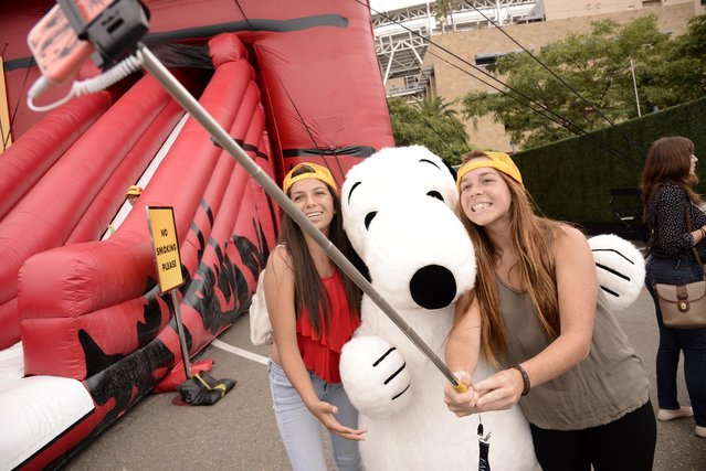 """A general view of atmosphere seen at """"The Peanuts Movie"""" at 2015 Comic-Con on Thursday, July 9, 2015, in San Diego. (Photo by Dan Steinberg/Invision for Twentieth Century Fox/AP Images)"""
